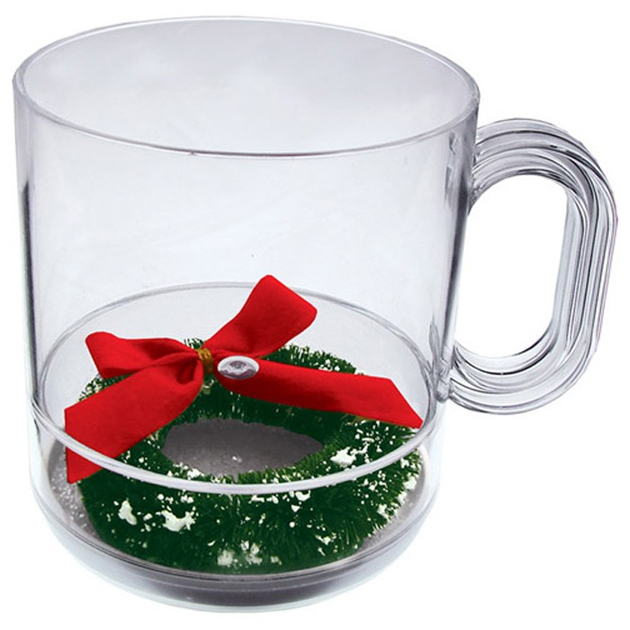 12 oz. Acrylic Holidays Theme Compartment Coffee Mugs