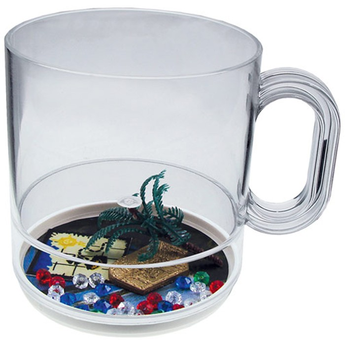 12 oz. Acrylic Beach Theme Compartment Coffee Mugs