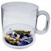 12 oz. Acrylic Holidays Theme Compartment Coffee Mugs