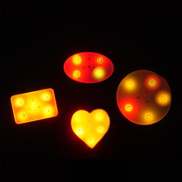 Led Light Up Badges And Flashing Pins Flashing Promos