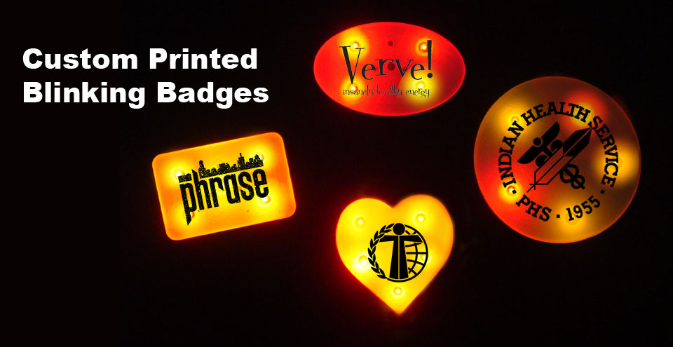 Custom Printed Light Up Badges